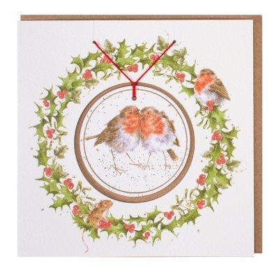 'Snuggled Together' Christmas Decoration card