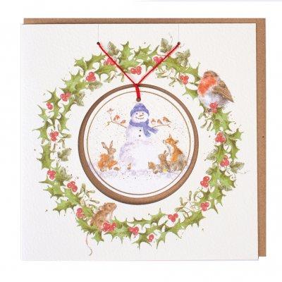 'Gathered Around' Christmas Decoration card