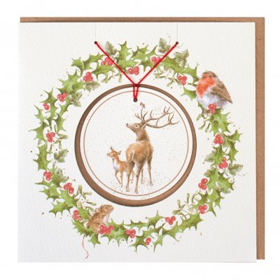 'The Stars in the Bright Sky' Christmas Decoration card