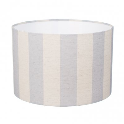 Large blue striped lampshade