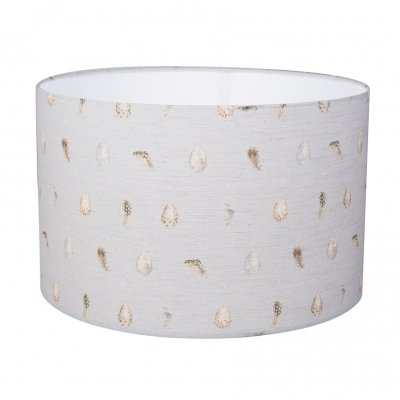 Large egg and feather design lampshade