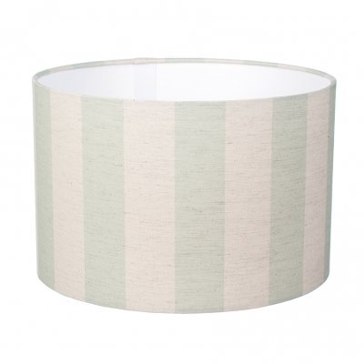 Green striped large lampshade