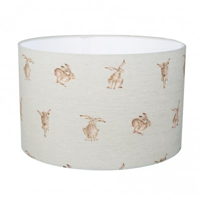 Large hare designs lampshade