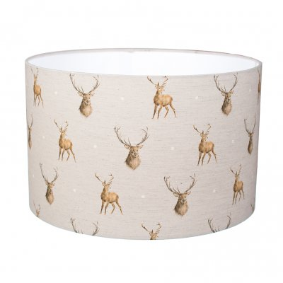 Large stag design lampshade
