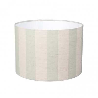 Small Green Striped Lampshade